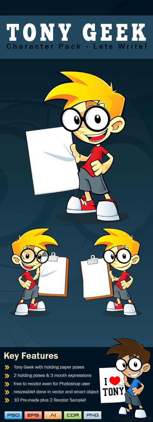 Tony Geek - Lets Write! by hackerkuper