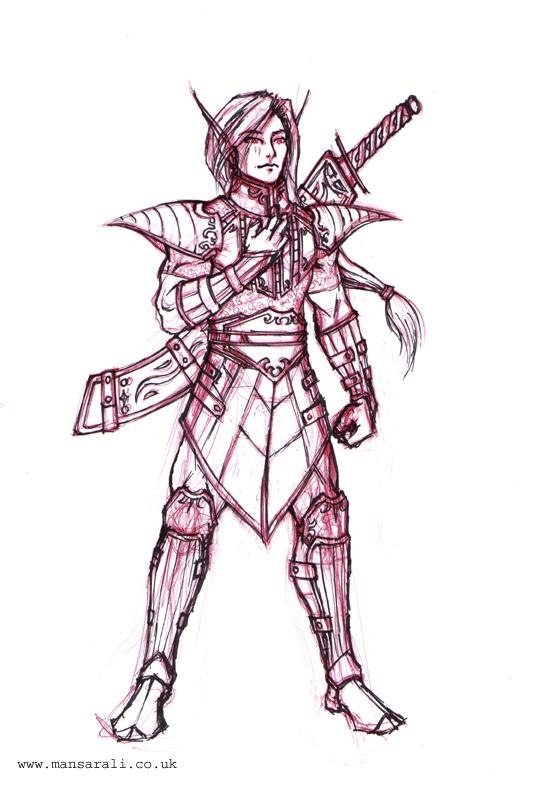 Easy Warrior Drawings Male Elf 0