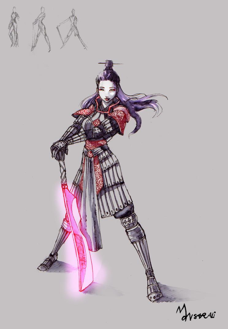 Female Warrior by mansarali