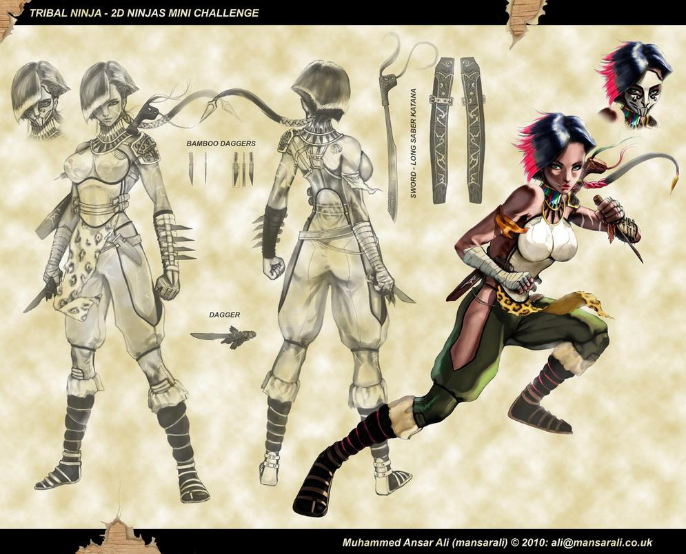 Tribal Ninja Final Sheet by mansarali