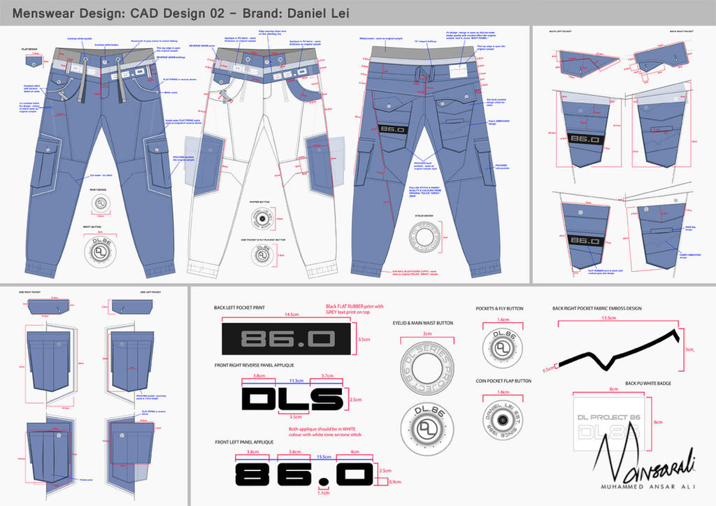 BRAD JEAN - CAD Design by mansarali