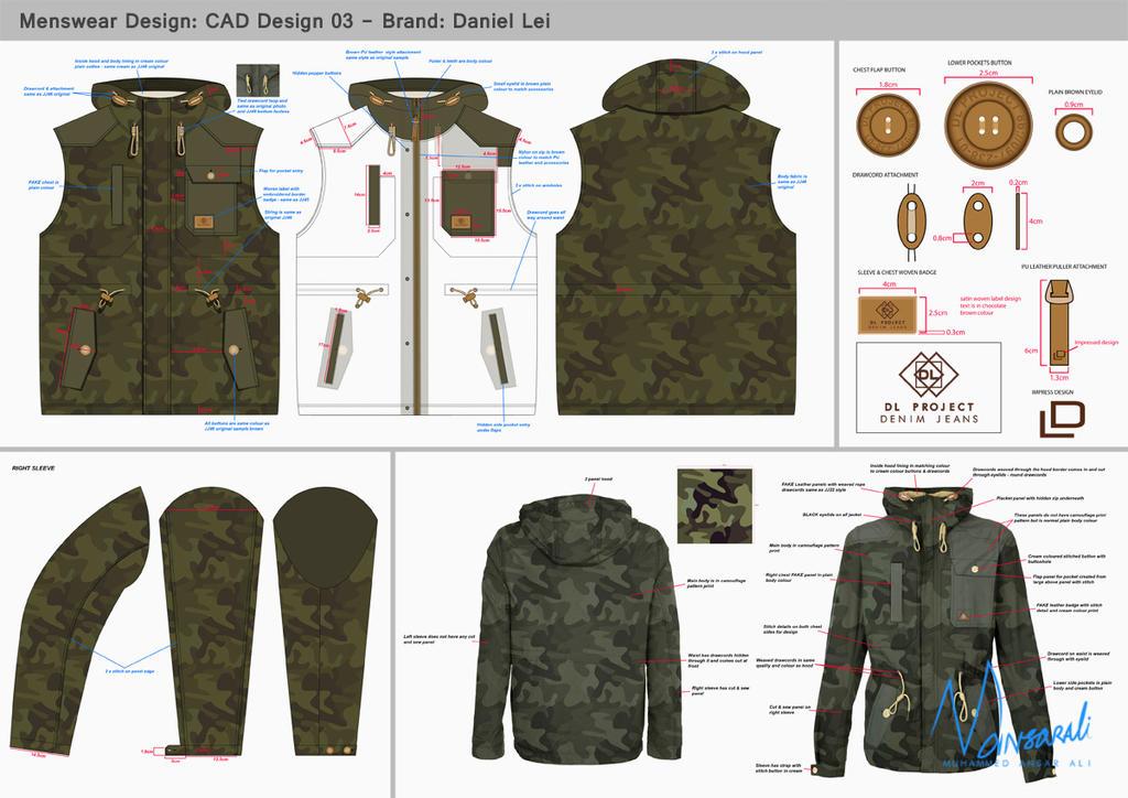 Jacket CAD Design 03 by mansarali