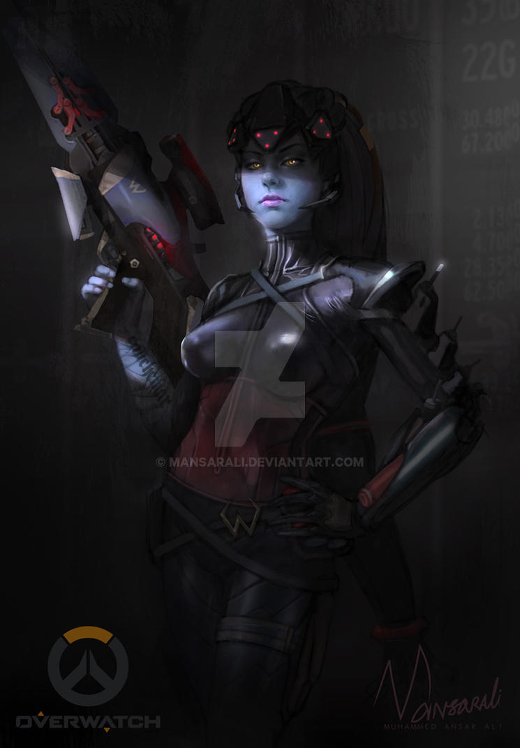 Widowmaker Noire Costume by mansarali