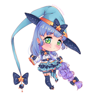 [CLOSED] Chibi Witch adoptable Auction by LittlePancake94