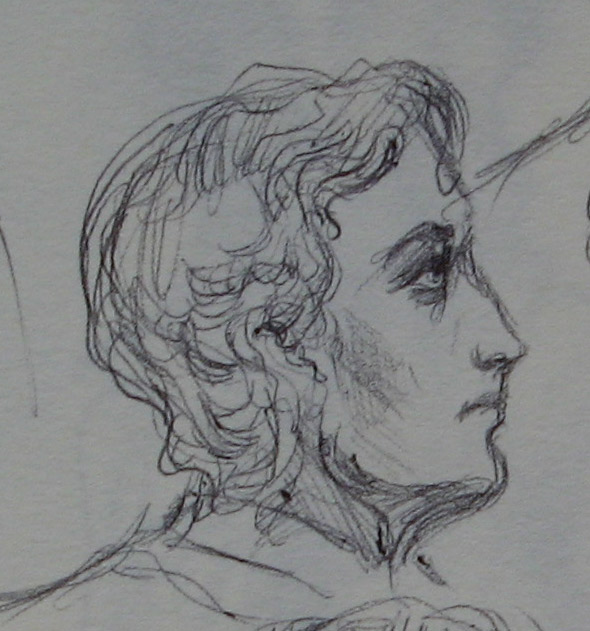 Lord Alfred Douglas - sketch II by Cassiuseos