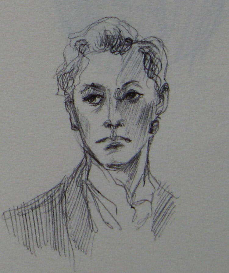 Lord Alfred Douglas - sketch III by Cassiuseos