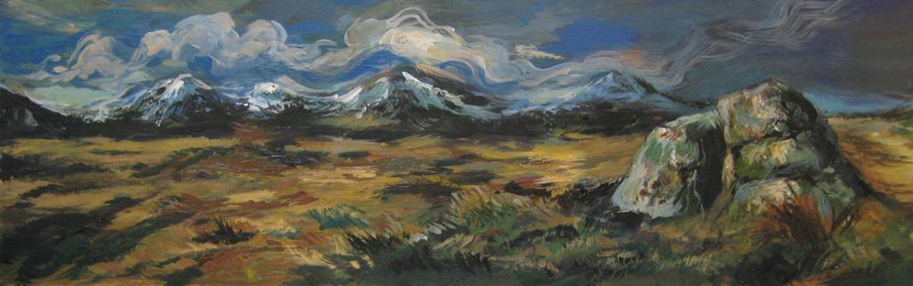 The Blackmount, Scotland by Cassiuseos