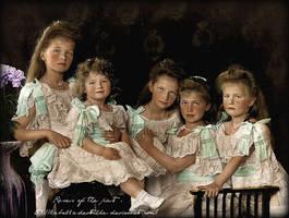 Last Romanov children in 1906 by La-Bella-Devotchka