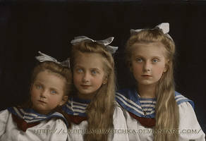 Girls in sailor suits . by La-Bella-Devotchka