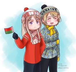 Sochi 2014- Ukraine and Belarus by valethra