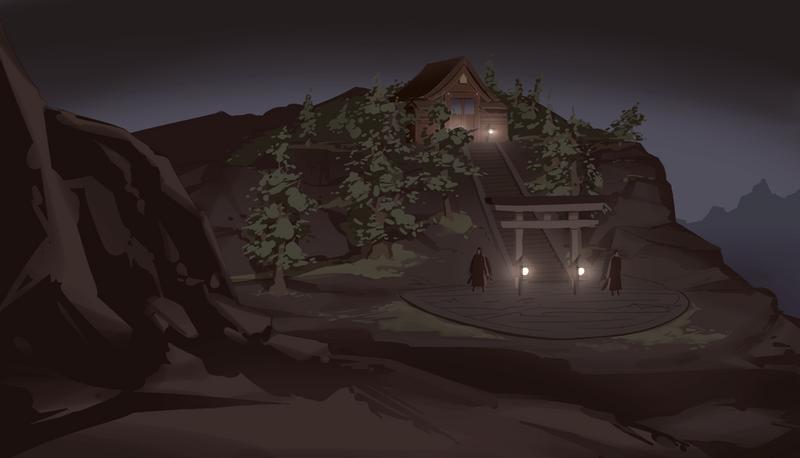 Mountaintop shrine by GraphyteRonin