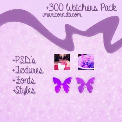 300 Watchers *-* {Pack} by ImUnicornn