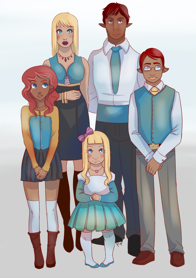 Family portrait. by Paper-Plate ... & Family portrait. by Paper-Plate on DeviantArt