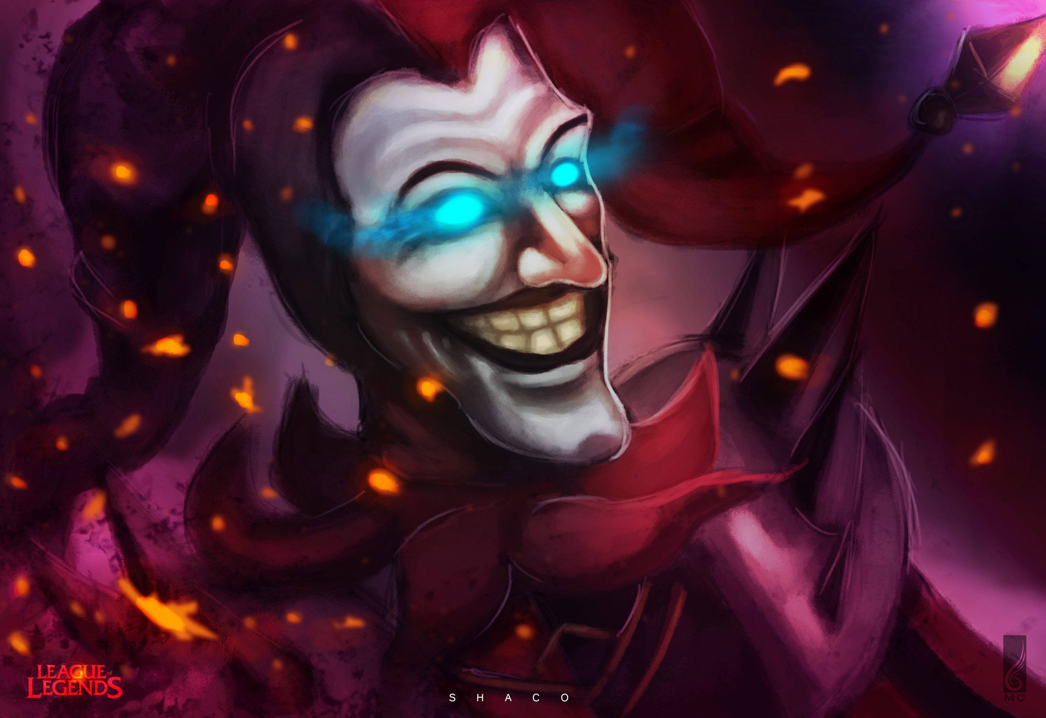 Shaco League of Legends Fan art by MCilustracion on DeviantArt