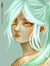 White snake by MCilustracion
