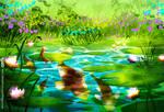 Lotus pond - Day version