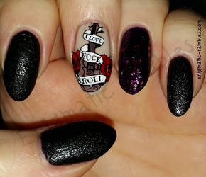 Rock n' Roll Nails by EnigmaticRambles