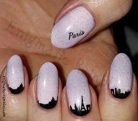 Paris Skyline Nails by EnigmaticRambles