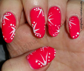 Neon Pink Summer Nails