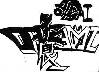 Ookami Graffiti by Mystic-Majinbuu