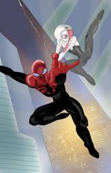 Superior Spider-Man and Spider-Gwen by ProjectCornDog