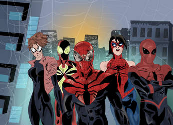 Spider-Man team assembles! (Spider-Woman too) by ProjectCornDog
