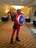 AnimeNext 2015: Captain 'Murica (Captain Deadpool) by ProjectCornDog