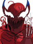 Wolverine with the CARNAGE symbiote