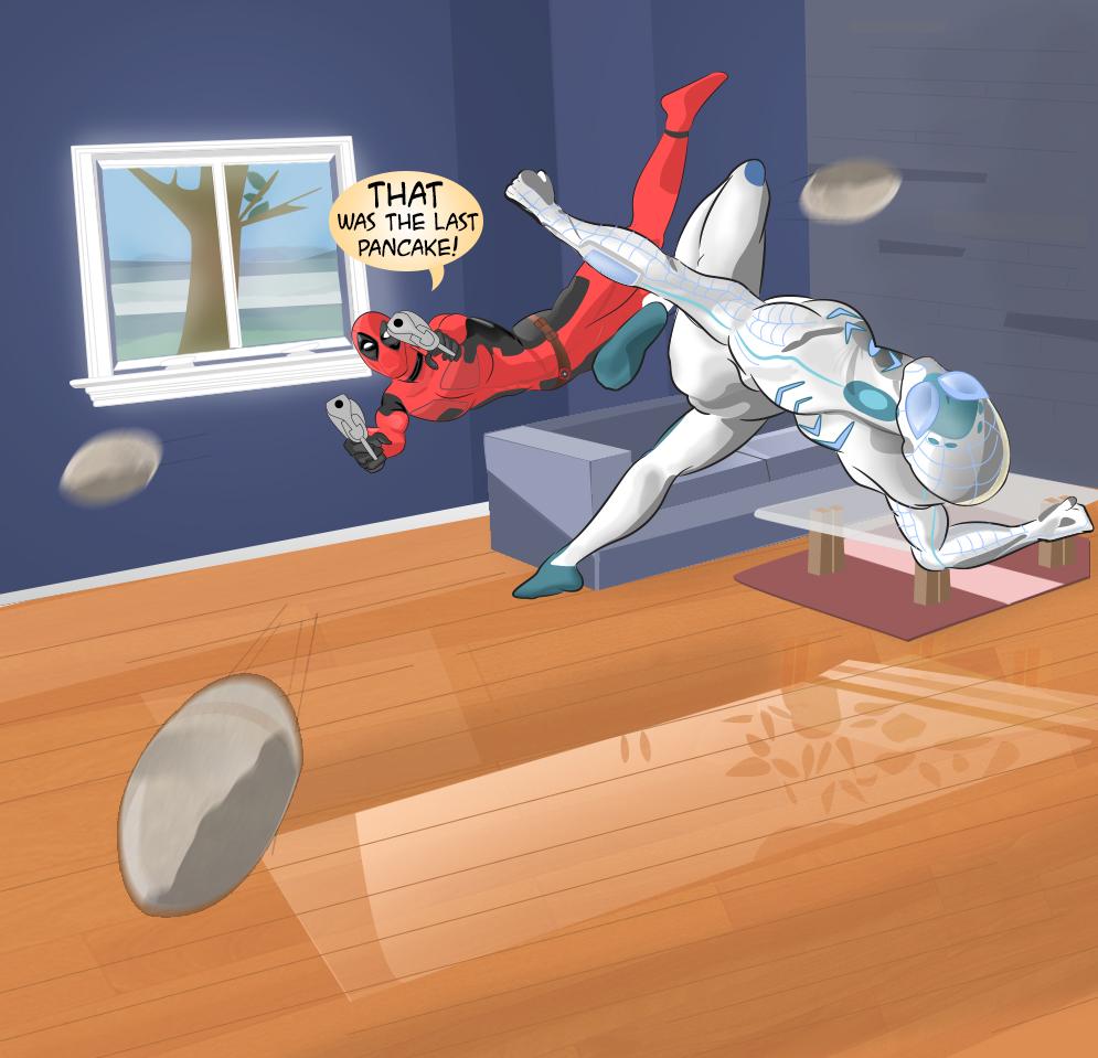 Deadpool vs Spider-Man by ProjectCornDog