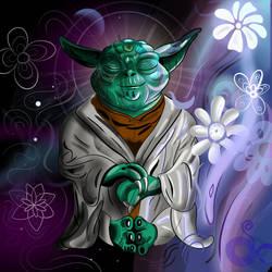 Yoda meditating by OperationCornDog