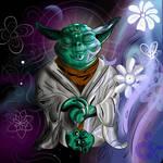 Yoda meditating by ProjectCornDog