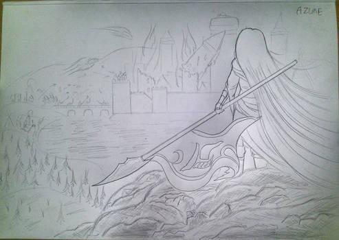 War maiden and castle siege