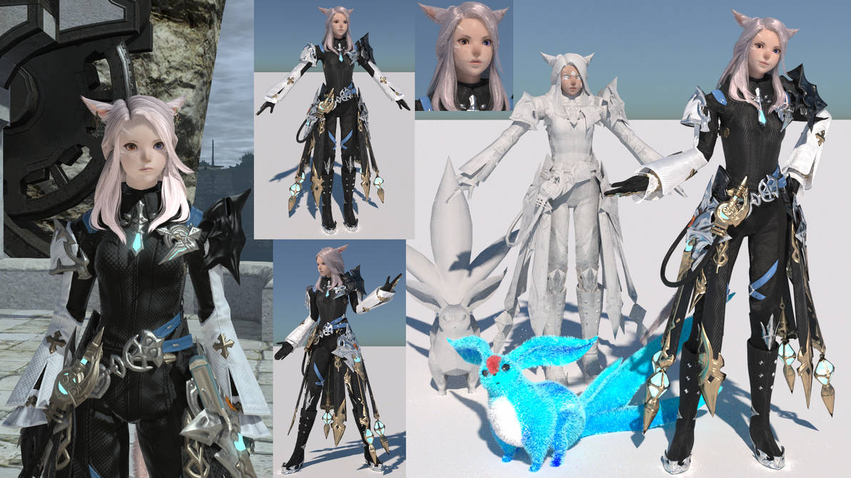 FFXIV Character extracted to Blender by NoAsoc50 on DeviantArt