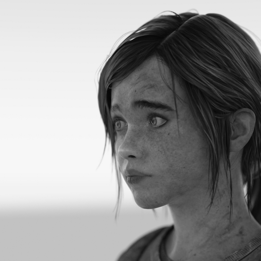 Ellie Portrait 3 (B+W) by NoAsoc50