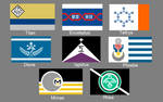 Flags of the Greater Moons of Saturn