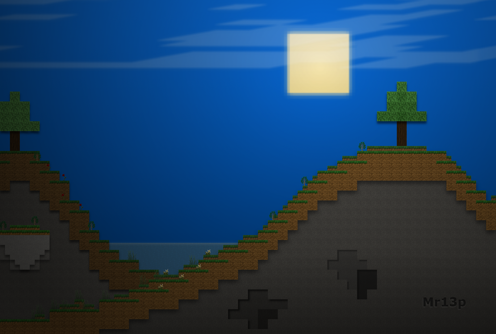 Download Wallpaper Minecraft Art - minecraft_2_5d_a_sunny_horizon_by_mr13p-d49b23v  Pictures_303771.png