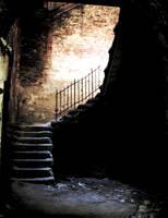 dark stairway by Skanatiker