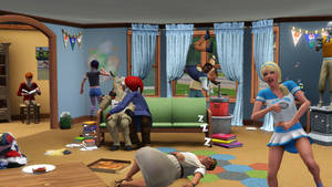 The Sims 3 University Life Party