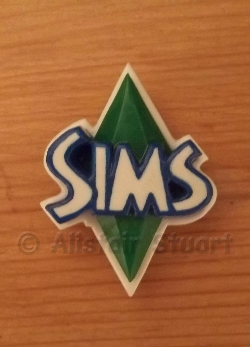 Sims Logo Plumbob Badge