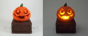 Glowing Polymer Clay Pumpkin