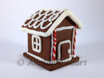 Fimo Gingerbread House by Alistu