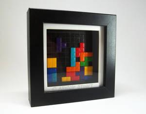 Framed Tetris Scene
