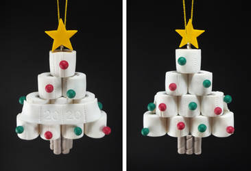 2020 Toilet Paper Christmas Tree +commission+