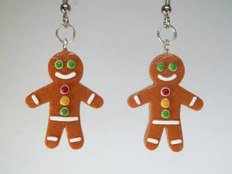 Gingerbread Men Earrings Gift