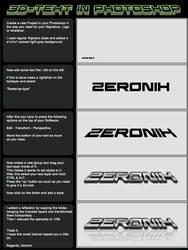 3d text tutorial by ZeroniX-Designs