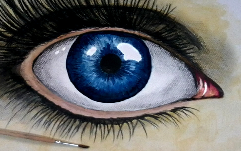 eye acrylic paints by doktorekpl on deviantart On acrylic eye painting