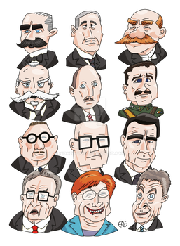 Presidents of Finland Vectorized