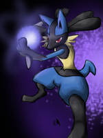 Speedpaint: Lucario, Aura Sphere! by Wings-Dragon