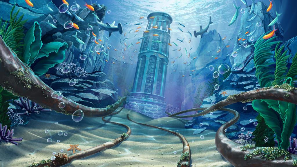 Underwater World Digital Art by Julia Faranchuk  Underwater World Drawings