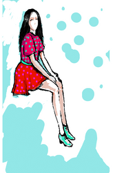 Red dress by Tsunami11